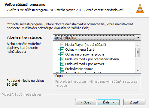 VLC Player – manuál