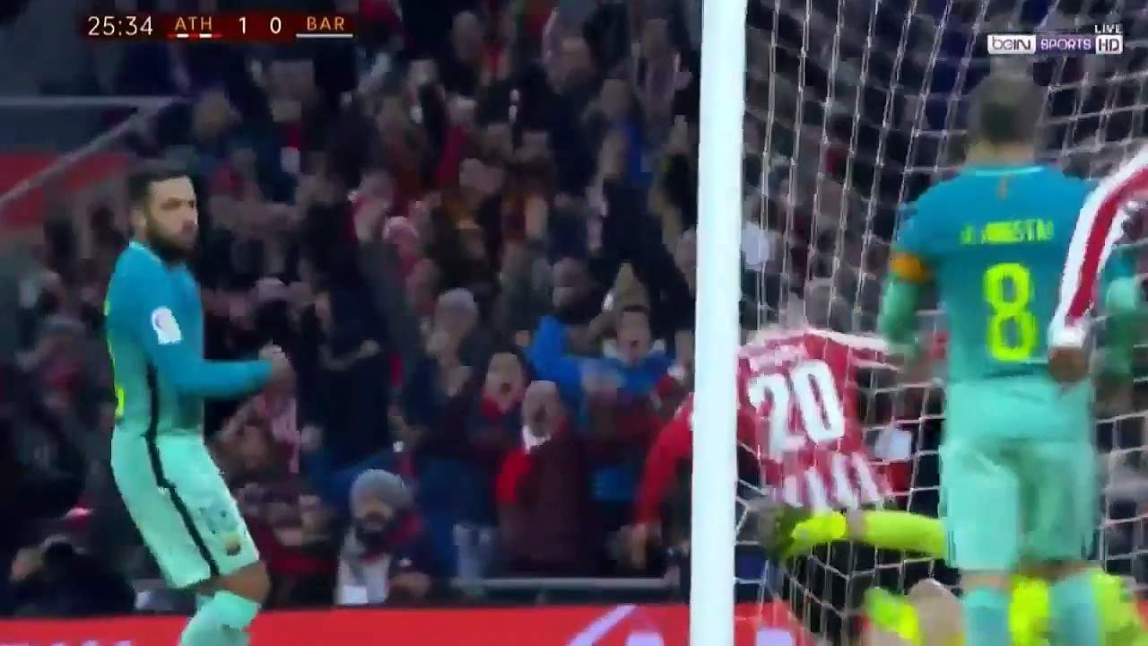 Pohár: Athletic Bilbao – Barcelona (1:2)